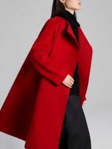 KENNY女装新款红色大衣