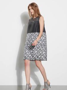 芮玛女装夏季新款拼接连衣裙