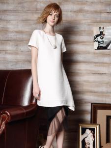 红贝缇女装2016新款白色裙子