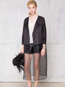 红贝缇正品女装短款黑色外套