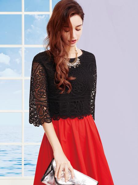 香影女装红色半身裙