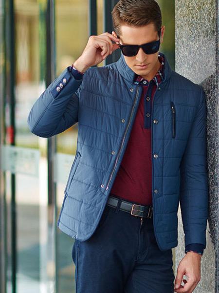 卡度尼男装蓝色羽绒服