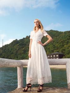 edisa白色连衣裙