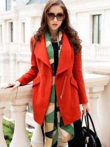 高氏杰红色大衣