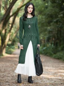 曦然绿色连衣裙