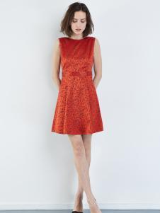 asobio红色连衣裙