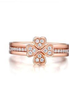 珂兰玫瑰金戒指