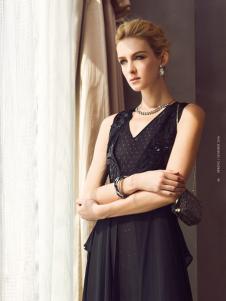 edisa黑色连衣裙