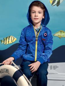 贝乐鼠童装深蓝外套