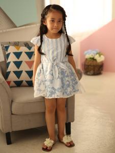 米雅星女童印花连衣裙