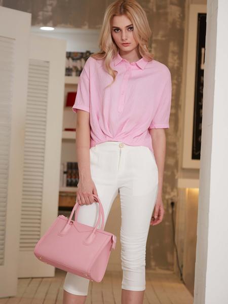 金蝶茜妮2016粉色衬衫