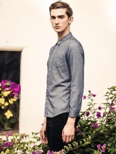 翡翠男装灰色衬衫