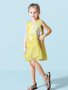 schwartz黄色橙色连衣裙