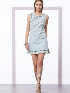 兰恩蓝色连衣裙