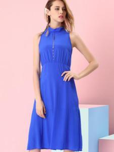 千面丽人蓝色长裙