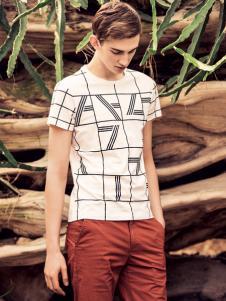 翡翠男装条纹T恤