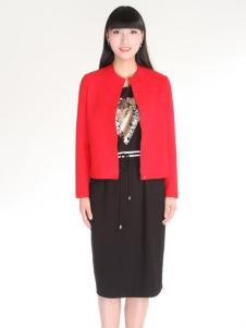 夺宝奇兵女装春装新款红色外套