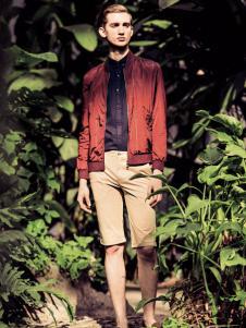 翡翠男装红色外套