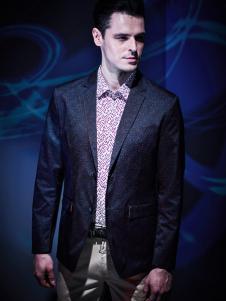 袋鼠男装春季新款时尚商务休闲西服