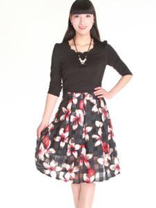 夺宝奇兵女装夏季新款印花长裙