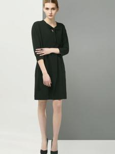 娜子崔纯黑连衣裙