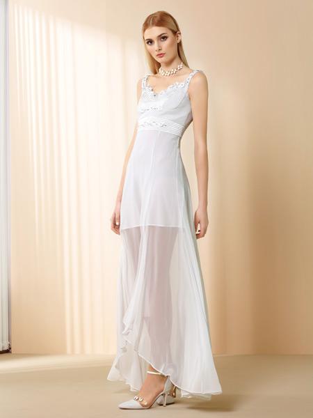 奥伦提女装新款吊带连衣裙