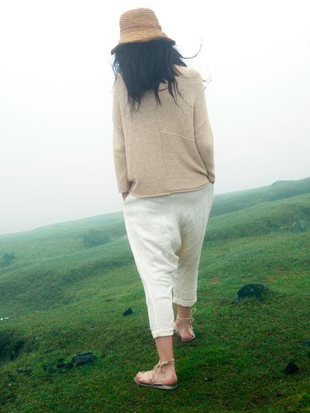 因为ZOLLE女装春季短款棉麻外套