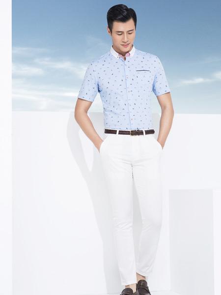 杉杉男装短袖衬衫