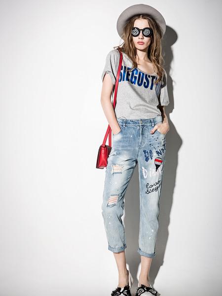 西蔻女装夏季新款牛仔裤