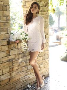 木帛蕾丝裙