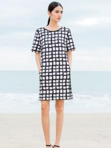 佛尼亚2016年夏季格纹连衣裙