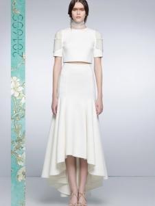 I LOVE PRETTY白色长裙