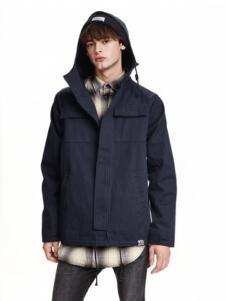 莱语男装蓝色外套