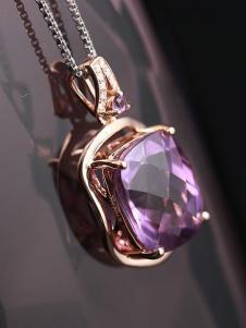 晶石灵浅紫色吊坠