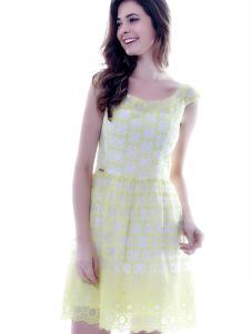 百诗雅兰格子连衣裙
