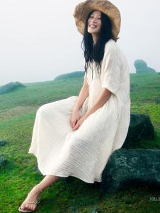 ZOLLE女装夏季新款白色连衣裙