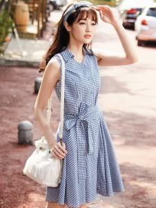 尚州格子连衣裙