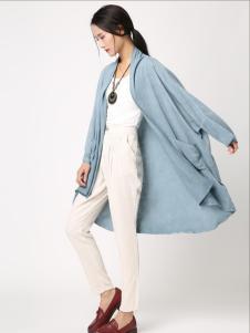 無索女装蓝色外套