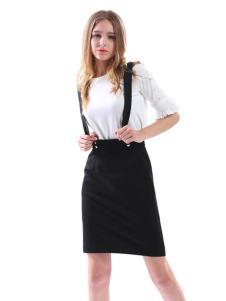 艾丽莎夏季个性背带裙