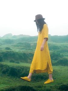 ZOLLE女装棉麻长款连衣裙