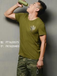 军备酷军绿色T恤