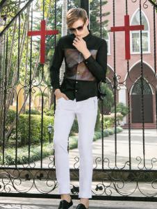 莎斯莱思男装白色休闲裤