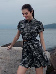 战地夏装新款女款休闲连衣裙