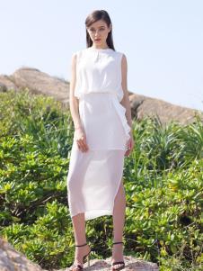 2016诺娜莉新款白色连衣裙