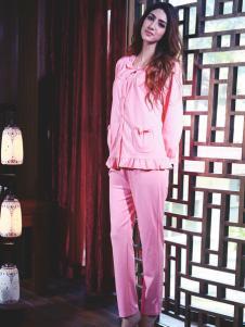 小妇人内衣新款粉色睡衣套装