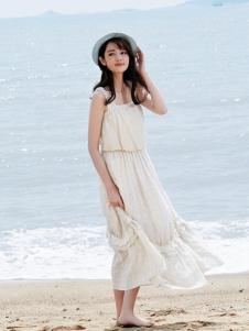 尚州棉麻吊带长裙