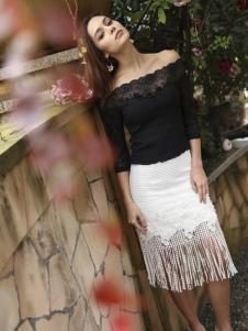 木帛流苏裙