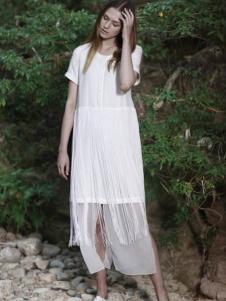 淿素女装BELLO SZ女装白色棉麻长裙