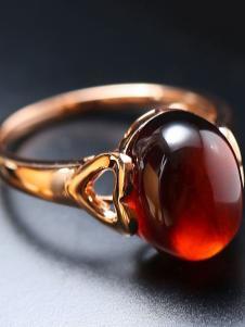 晶石灵红宝石戒指
