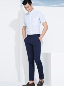杉杉男装短袖白色t恤